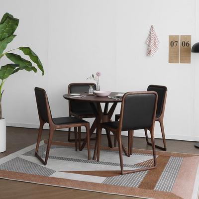 [헤리티지월넛] SEMI 하이엔드 B형 원형식탁/테이블 세트