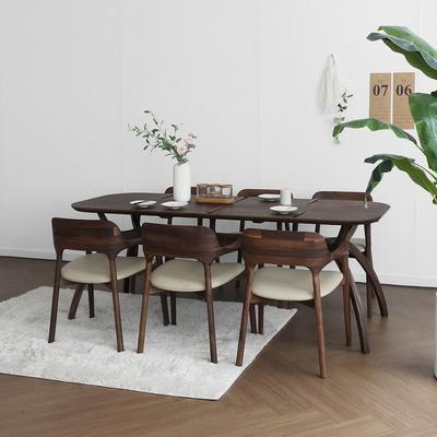 [헤리티지월넛] SEMI 하이엔드 A형 커브식탁/테이블 세트