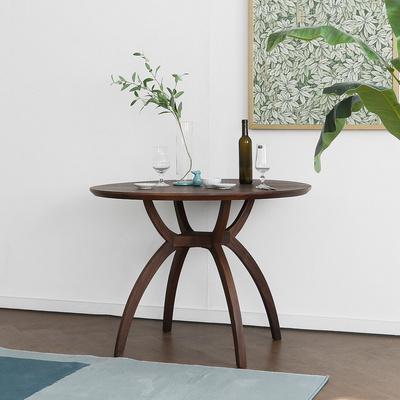[헤리티지월넛] SEMI 하이엔드 A형 원형식탁/테이블