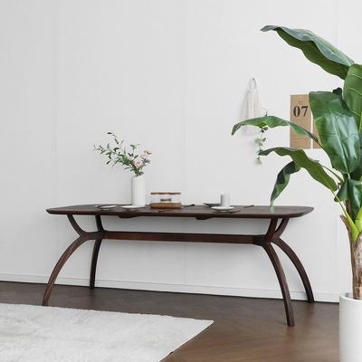 [헤리티지월넛] SEMI 하이엔드 A형 커브식탁/테이블
