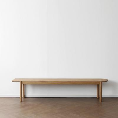 [오크] A형 반원형 벤치의자 : 화이트오크
