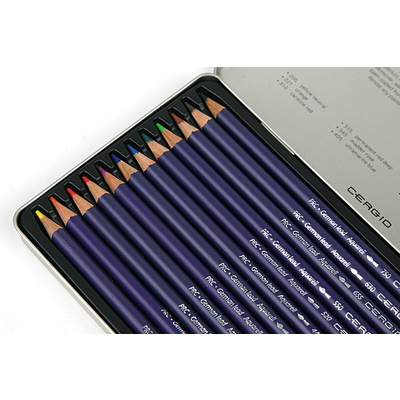 세르지오 수채색연필 12색