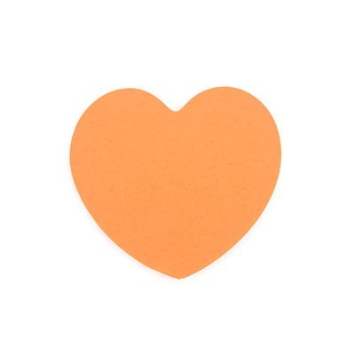 디자인 점착메모지_하트(orange)