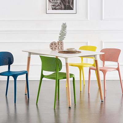 카페 강의실 식탁 플라스틱 인테리어 의자