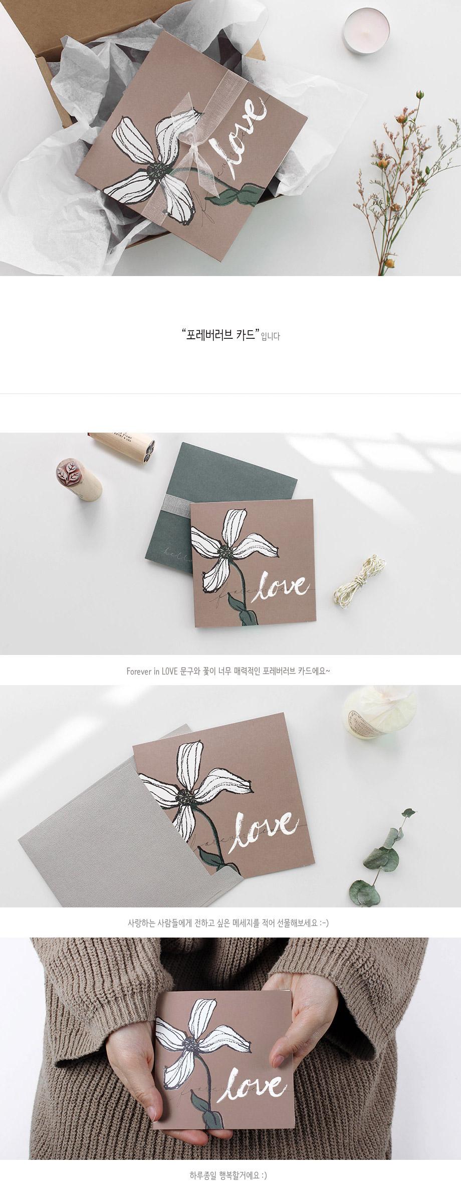 포레버러브 카드 - 헬로우모리스, 1,300원, 카드, 사랑/고백 카드