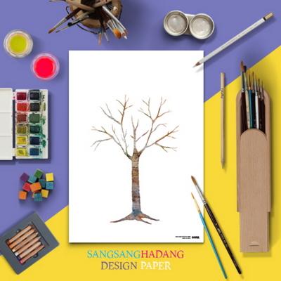 상상하당 도안지 - 나무 (10매)