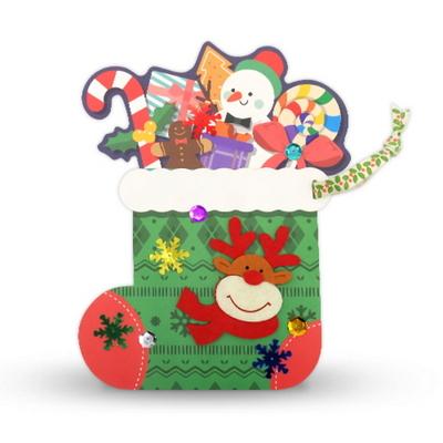 크리스마스 양말카드 5set