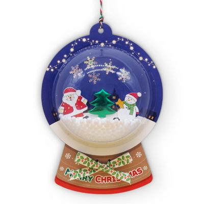 크리스마스 스노우볼 오너먼트 5set