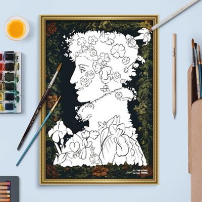 포켓미술관 명화 도안 - 사계 봄 10매