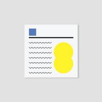 미온전 memo pad (yellow)