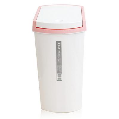 레아 투톤컬러 휴지통 10L 핑크