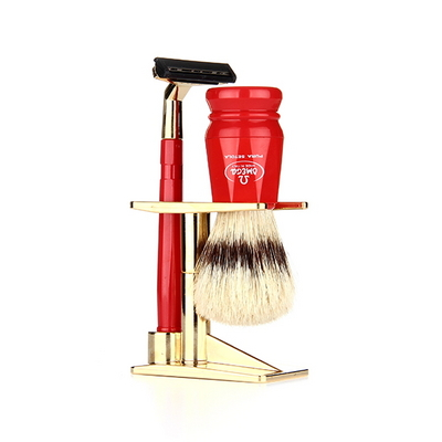 shaving brush SET 1091.K RED