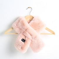 라지 에코 퍼 머플러 - YS8003PK 핑크