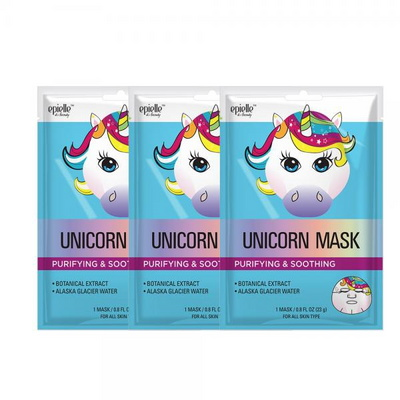 깨끗한 피부만들기 유니콘 동물 마스크팩 3개