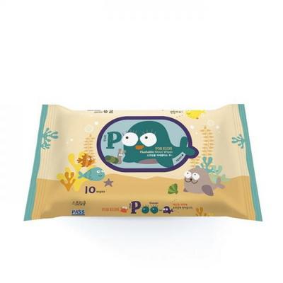 스프링클 비데 푸(POO)티슈 휴대용 10매1팩