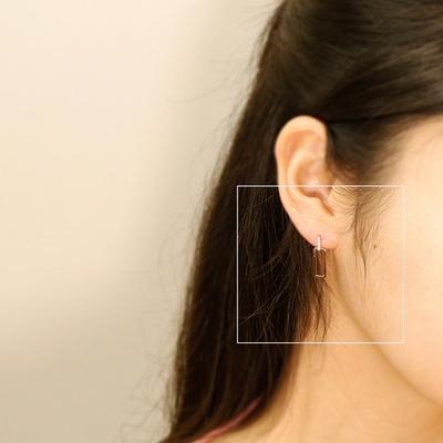 별그대 클립 큐브 은침 귀걸이