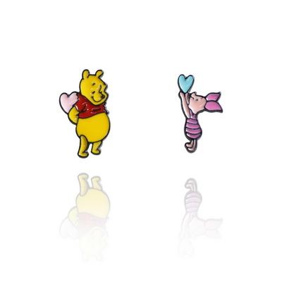 디즈니캐릭터귀걸이 곰돌이푸 푸 피글렛  은침귀걸이