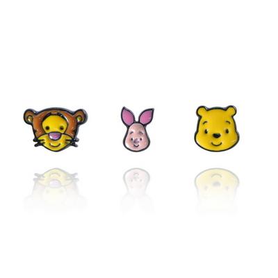 디즈니캐릭터귀걸이 곰돌이푸 얼굴3pcs  은침귀걸이