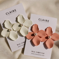 바람꽃 볼드 귀걸이 2color