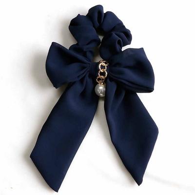 로맨틱 쉬폰 리본 슈슈 곱창 머리끈 3color