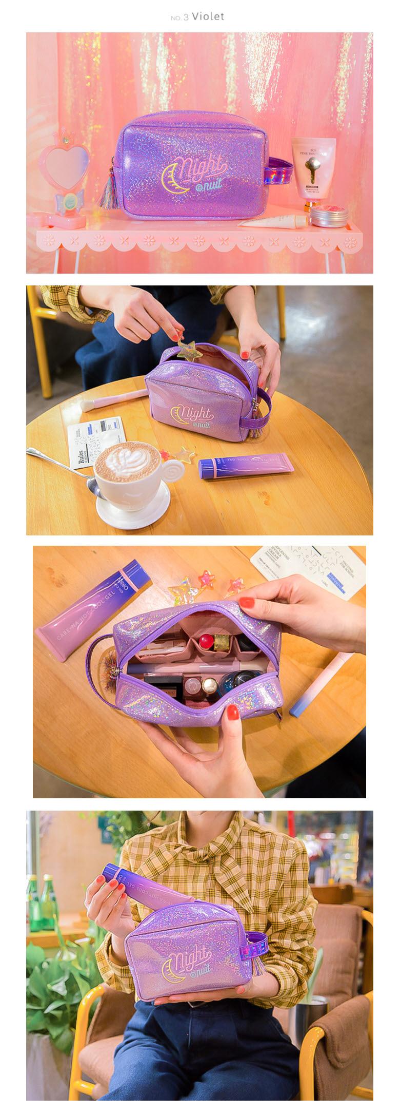 BENTOY 문나이트 화장품파우치 - 251w, 8,410원, 메이크업 파우치, 지퍼형