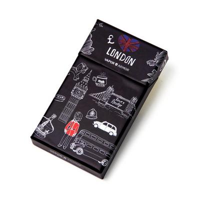 프리미엄 담배케이스 잉글랜드 블랙 - 일반, 슬림, 보헴시가미니, 버지니아, 심플, 클라우드