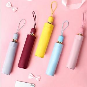 마카롱 3단 자동 양우산 자외선 차단 우산