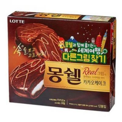 롯데)몽쉘 카카오케이크 384g_1개입