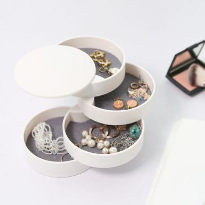 귀걸이 반지 팔찌 주얼리수납 원형 4단보관함 Atelier