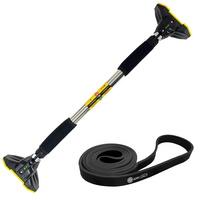 가정용 문틀철봉 풀업바 턱걸이봉(프리미엄형)+풀업밴드(블랙22mm)