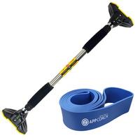 가정용 문틀철봉 풀업바 턱걸이봉(프리미엄형)+풀업밴드(블루64mm)