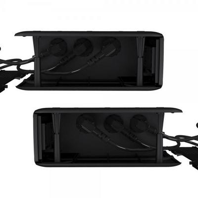 블럭탭B 멀티탭정리함 USB멀티탭 모니터받침 전선정리