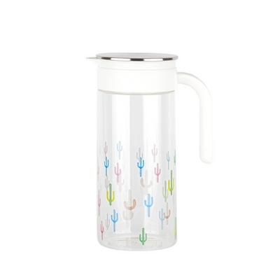 넥스코 내열유리 냉장고 물병 1.4L 선인장