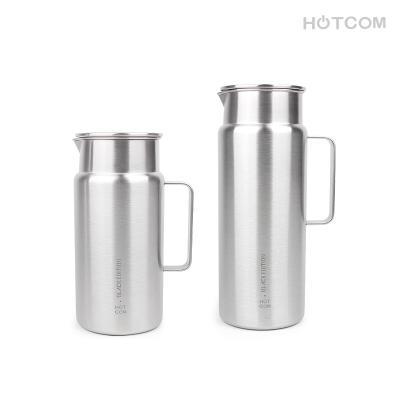 핫콤 블랙에디션 스텐 냉장고 물병 대용량 물통 업소용 물통