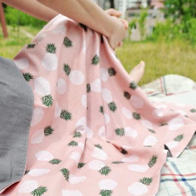 파인애플 거즈블랭킷 핑크