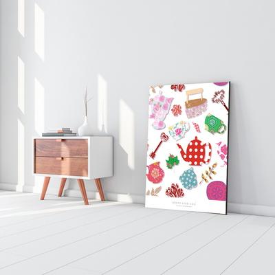 다용도액자테이블(패턴레드)800x600