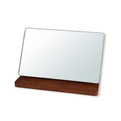 마니앤솔 월넛무늬목 탁상거울