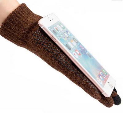 따뜻한 스마트폰터치 겨울 기모 방한 니트장갑