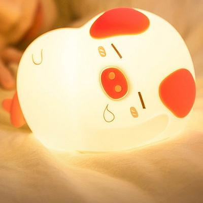 LED 충전식 터치 실리콘 무드등 아기 수유등 취침등