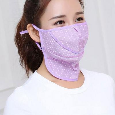 여성 넥 멀티 도트 마스크 얼굴 햇빛가리개
