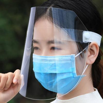 외출용 투명 PVC 안면 보호 필름 마스크