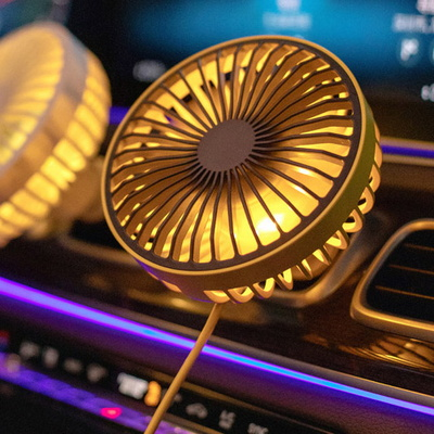 저소음 LED USB 차량용선풍기 여름 카 팬