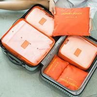 매쉬 방수 여행용 세면 의류 캐리어 파우치 6종 세트