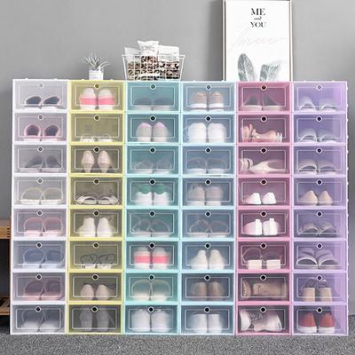 현관 공간활용 조립식 투명 신발 수납함 정리함 1p
