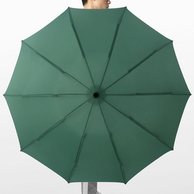 역방향 접이식 방풍 방수 자동 튼튼한 3단 우산