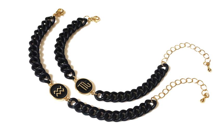 모던 블랙 별자리 체인팔찌 - 남성용 여성용 - 펄린, 15,900원, 팔찌, 패션팔찌
