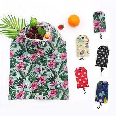폴딩에코백고리형 시장바구니 장바구니 휴대용 마트 보조가방