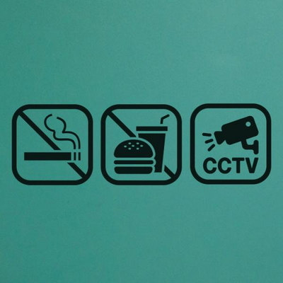 매장 안내 스티커 LMSI-012 픽토그램 CCTV 촬영중