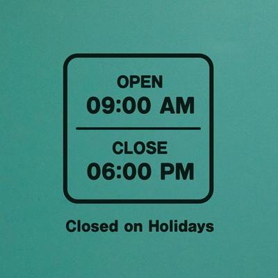 오픈클로즈 영업시간 스티커 LMST-021 라운드 선