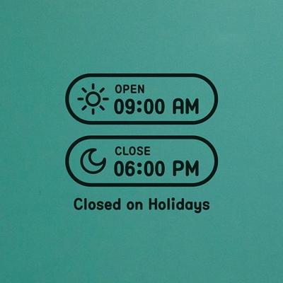 오픈클로즈 영업시간 스티커 LMST-035 해와 달